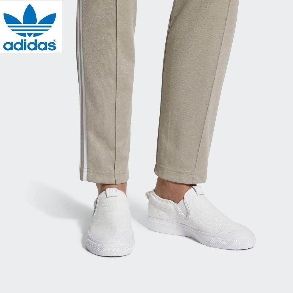 Adidas Unisex Originals Nizza Slip-On CQ3103 Sepatu Putih 100% Asli bacbb5755d