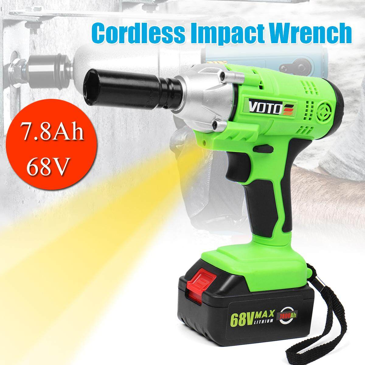 68V 7.8Ah Li-ion Battery Cordless Impact Wrench High Torque 280N.m LED Light EU Plug