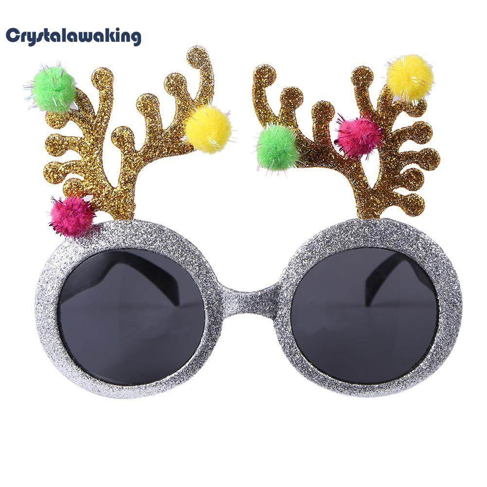 Hình ảnh Novelty Glitter Fur Ball Deer Horn Design Sunglasses Glasses Wedding Party Decor
