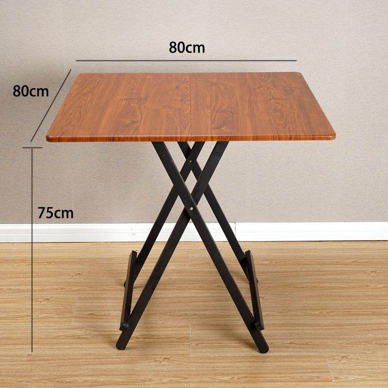 RuYiYu - 80x80x75CM/L W H, Special Simple Foldable Square Dining Table, Snack Table Set,Drop-leaf Table, Folding Table, Drop-leaf Table