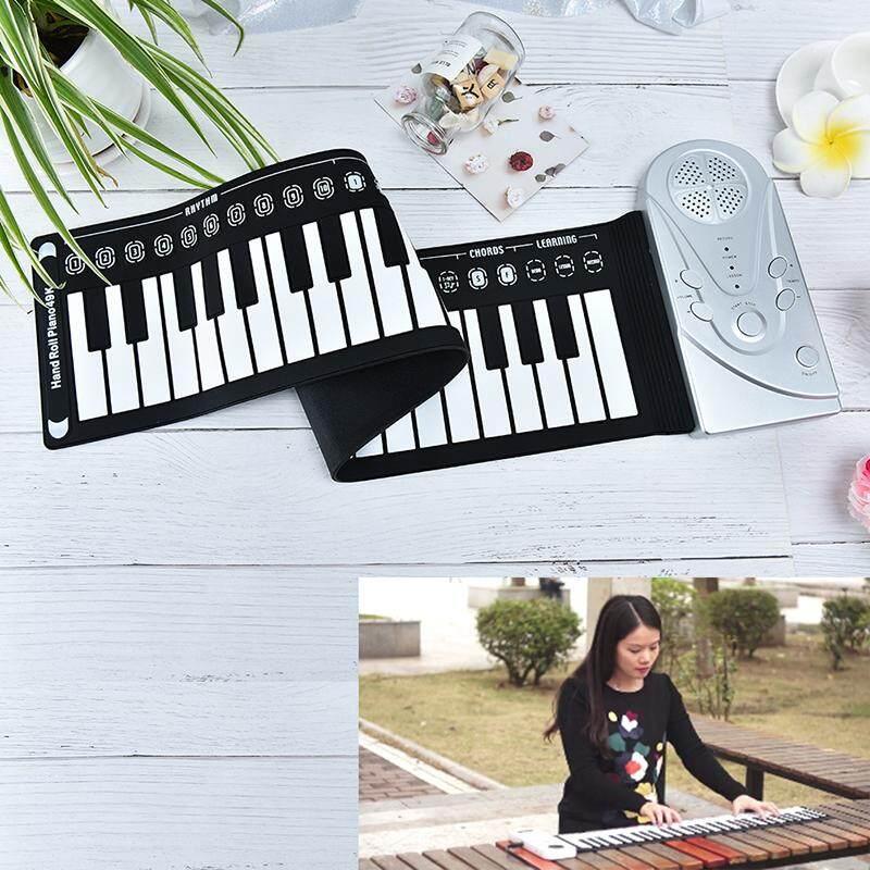 Rồng Di Động 49 Phím Cuộn Lên Đàn Piano Bàn Phím USB Conctroller Tay Đàn Piano Điện Tử Bạc