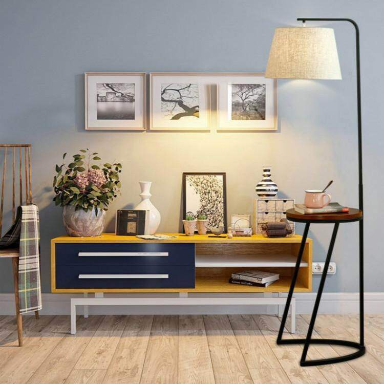Creative Furniture Vertical Coffee Table Floor Lamp  Modern Simple Bedroom Guest Study Living Room Floor Lamp