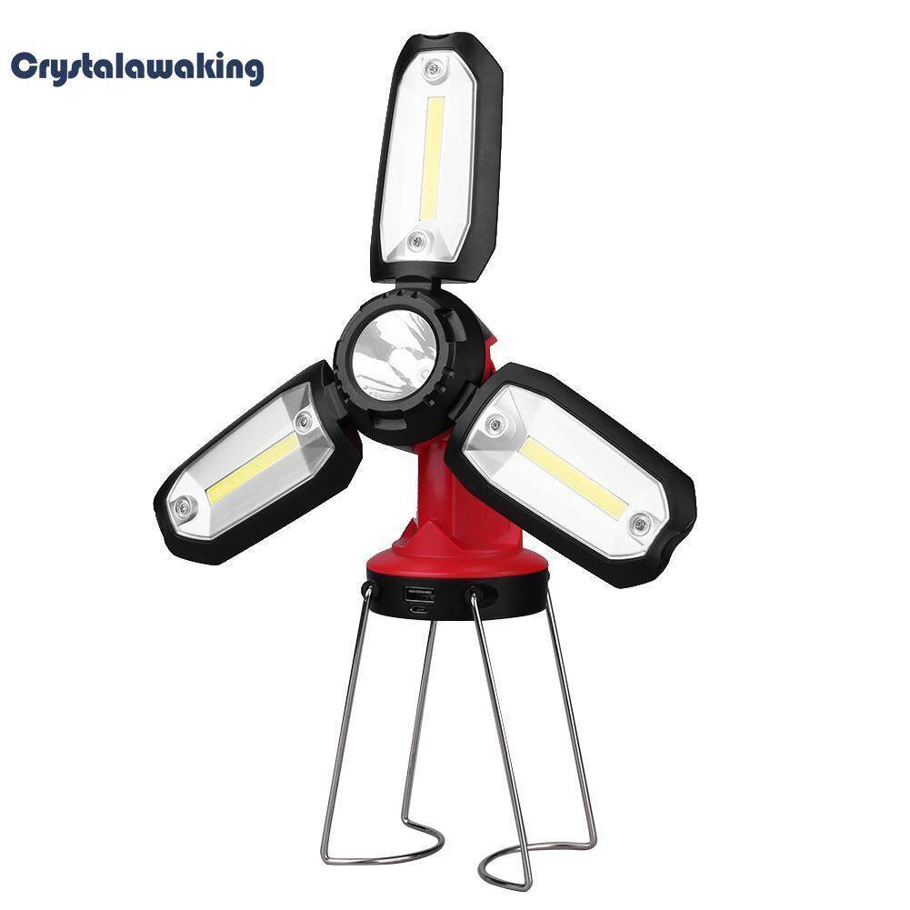 Usb Rechargeable Portable Led Camping Tent Light Emergency Lamp By Crystalawaking.