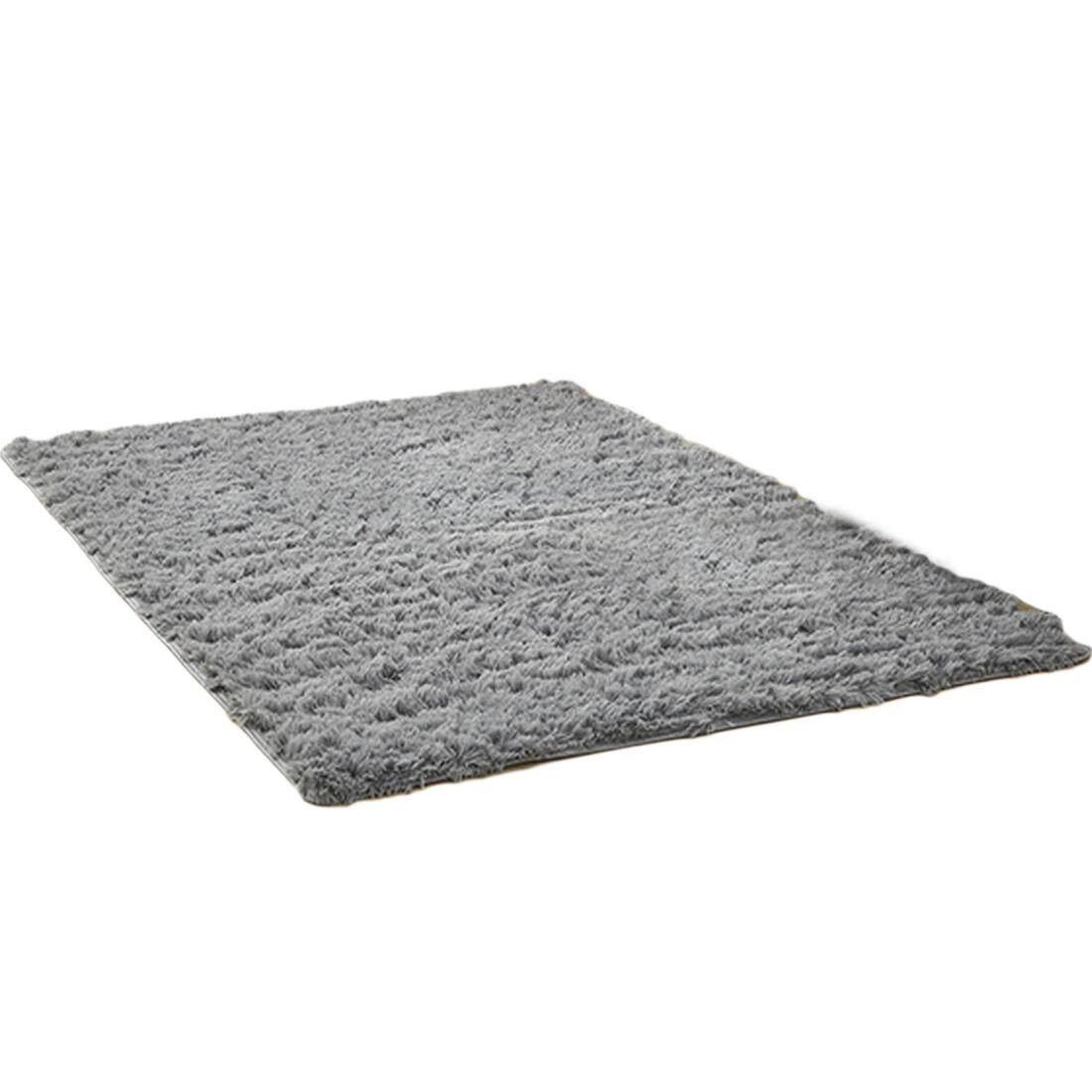 Detail Gambar Shaggy Karpet Luas Empuk Tikar Lantai Lembut Anti Selip Karpet 160*200 Cm-Intl Terbaru