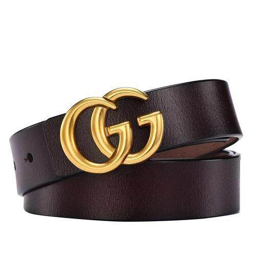 131fb07c40b Ladies Fashionable Double G Alloy Buckle Leather Material Durability Three  Sizes Retro Simple All-Matched