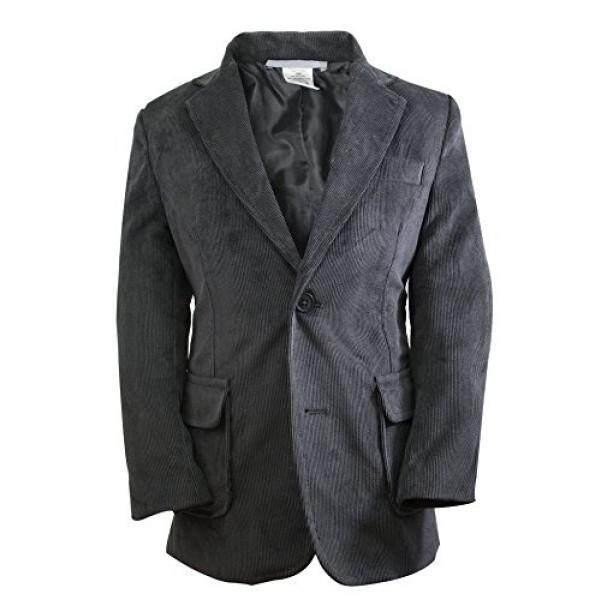 Luca Gabriel Toddler Boys Charcoal Single Breasted Corduroy Blazer Jacket - 5
