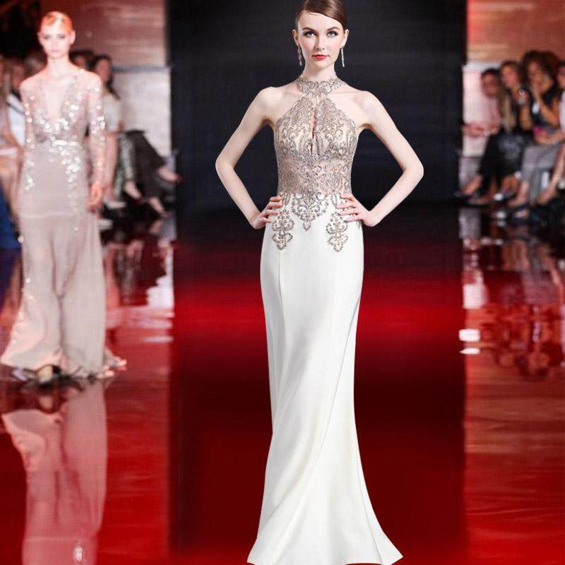 8d8ef000785 Annual General Meeting 2018 New Style Banquet Late Formal dress for women  Elegant Slimming White Nobility