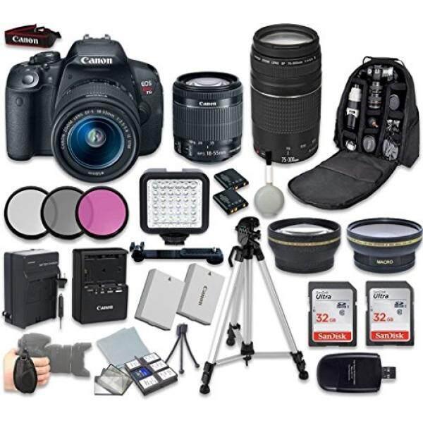 Canon EOS Rebel T5i Digital SLR Camera Bundel dengan EF-S 18-55 Mm F/3.5-5.6 IS STM Lensa Variabel + Canon EF 75-300 Mm F/4-5.6 III Lensa Profesional Aksesori Lengkap Bundel (19)