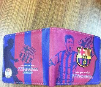 FCB Football Wallet Folded PU Purse 12*10cm
