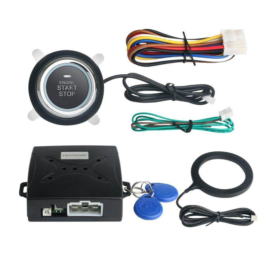 Alarm Systems Accessories Buy At Kancil Central Lock Wiring Diagram Niceeshop Car System Push Engine Start Stop Button Keyless Go Fits For Most Cars