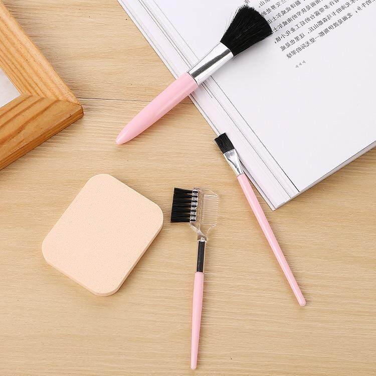 4 Piece Professional Makeup Brush Set Plush Makeup Brush Soft Makeup Brush Face Makeup Brush Set(Pink color) - intl Philippines