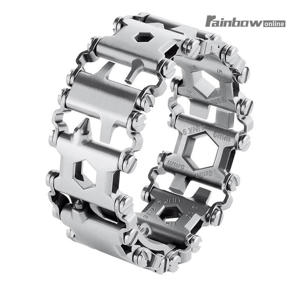 Hình ảnh 29in1 Multi-Tool Stainless Steel Bracelet for Outdoor Camping Hiking Travel - intl