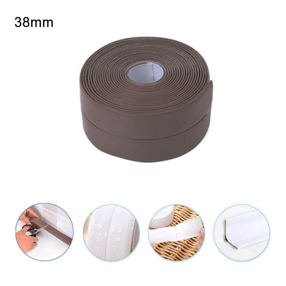 voovrof Kitchen Caulk Tape,PE Bath and Shower Gas Stove Self Adhesive Caulk Strip, Tub and Wall Sealing Tape Mildew Resistant Caulk Bathtub Sealer Strip - intl