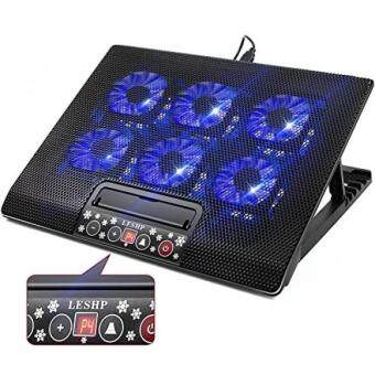 Discount 6 Quiet Fans Gaming Laptop Cooling Pad Lap for MacBook Pro / Air HP NoteBook, 15.6 - 17 Inch, LCD Screen, 2 USB Ports - Adjustable Computer Cooler ...