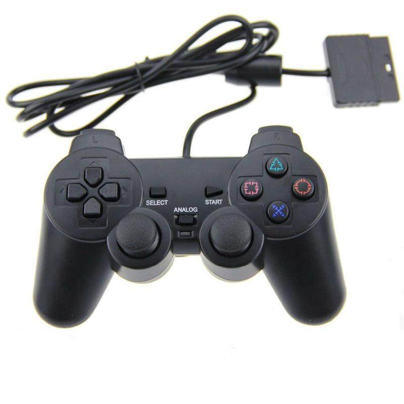 Os การเชื่อมต่อแบบใช้สาย Gamepad การสั่นสะเทือนคู่จอยเกมสำหรับ Ps2 By Outop Store.