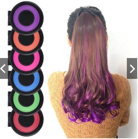 6 COLOR INSTANT TEMPORARY HAIR CHALK HAIR STYLER