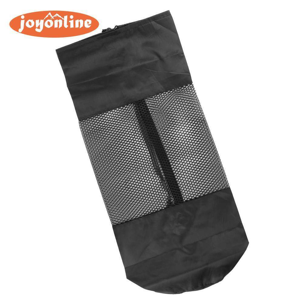 Joyonline Joyonline-Hot Sale! Stretchable Exercise Yoga Mat Bag Fitness Nylon Mesh Center Strap @moreone(black)- By Joyonline.