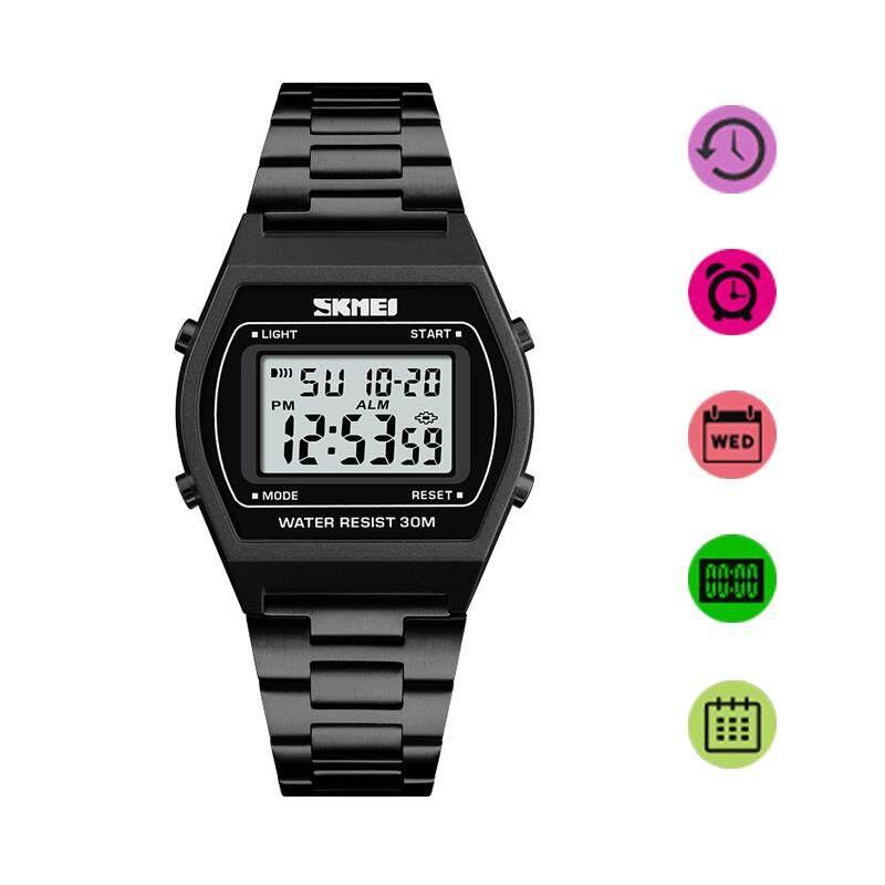 SKMEI Brand Watch Men Fashion Outdoor SportLuxury Digital Watch StopWatch Alloy Strap Business Work 12/
