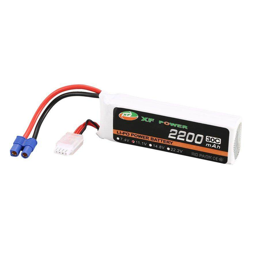 PKPNS XF POWER 11.1V 2200mAh 30C Lipo B*attery EC3 Plug For Blade 350 QX450 RC Drone