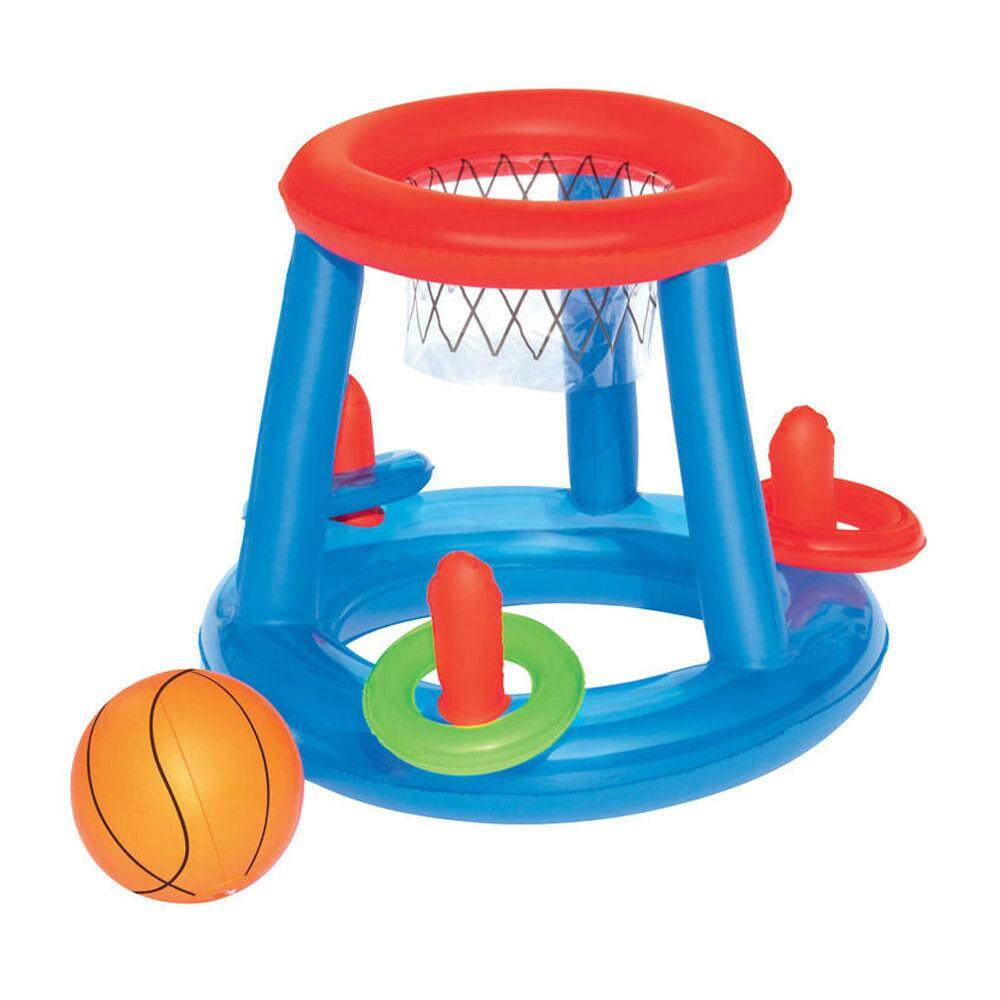 Bestway Inflatable Pool Play Game Center Basketball Hoop Ball Ring Toss Toys Kid