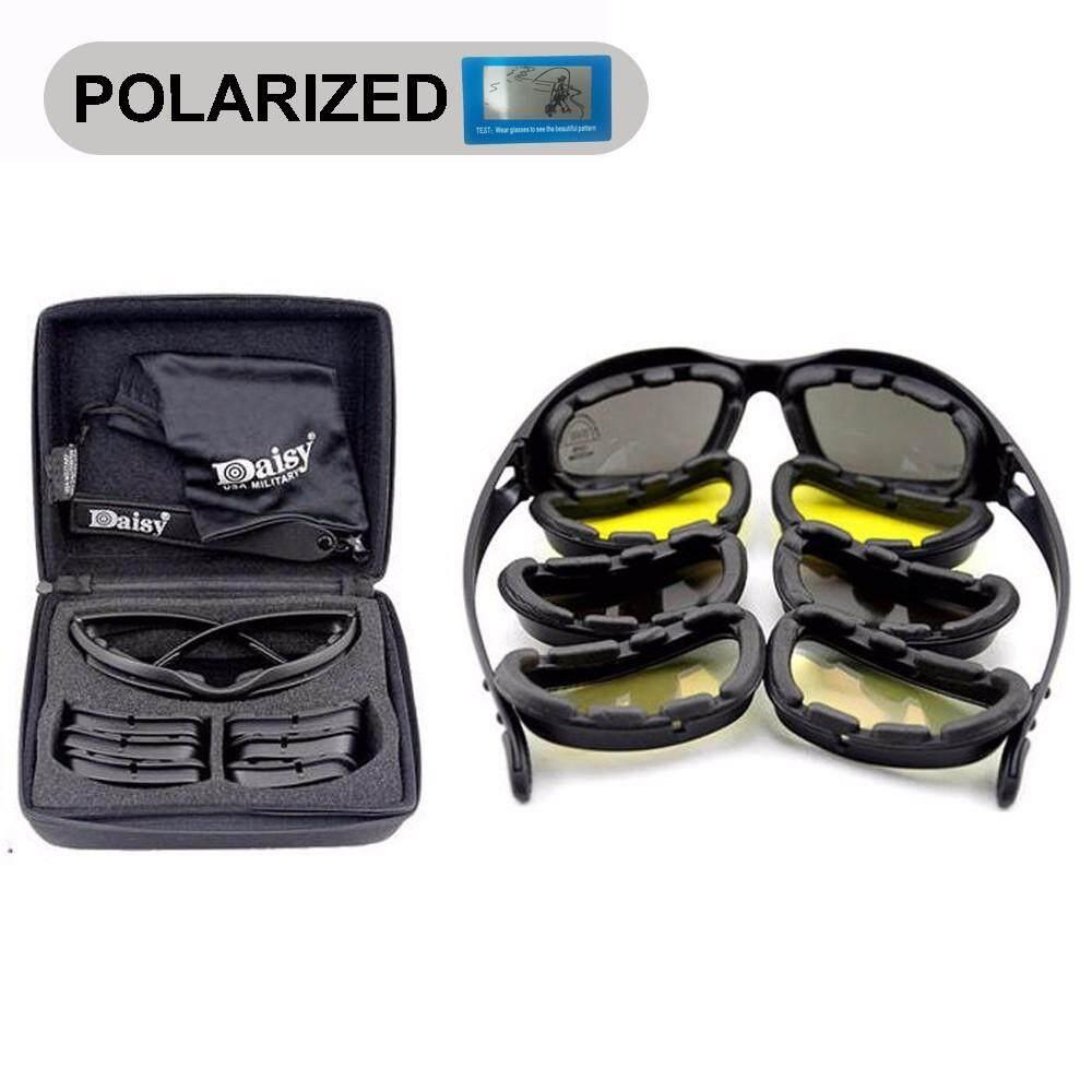 Baru Bunga Aster C5 Terpolarisasi Tentara Kacamata Olahraga Kacamata Hitam Pria Militer Matahari untuk Pria Gurun