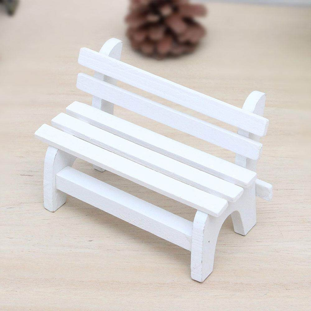 Small Chair Ornament Miniatures Bench Mini Wood 11*5.5*7cm Decoration Photo Props - intl