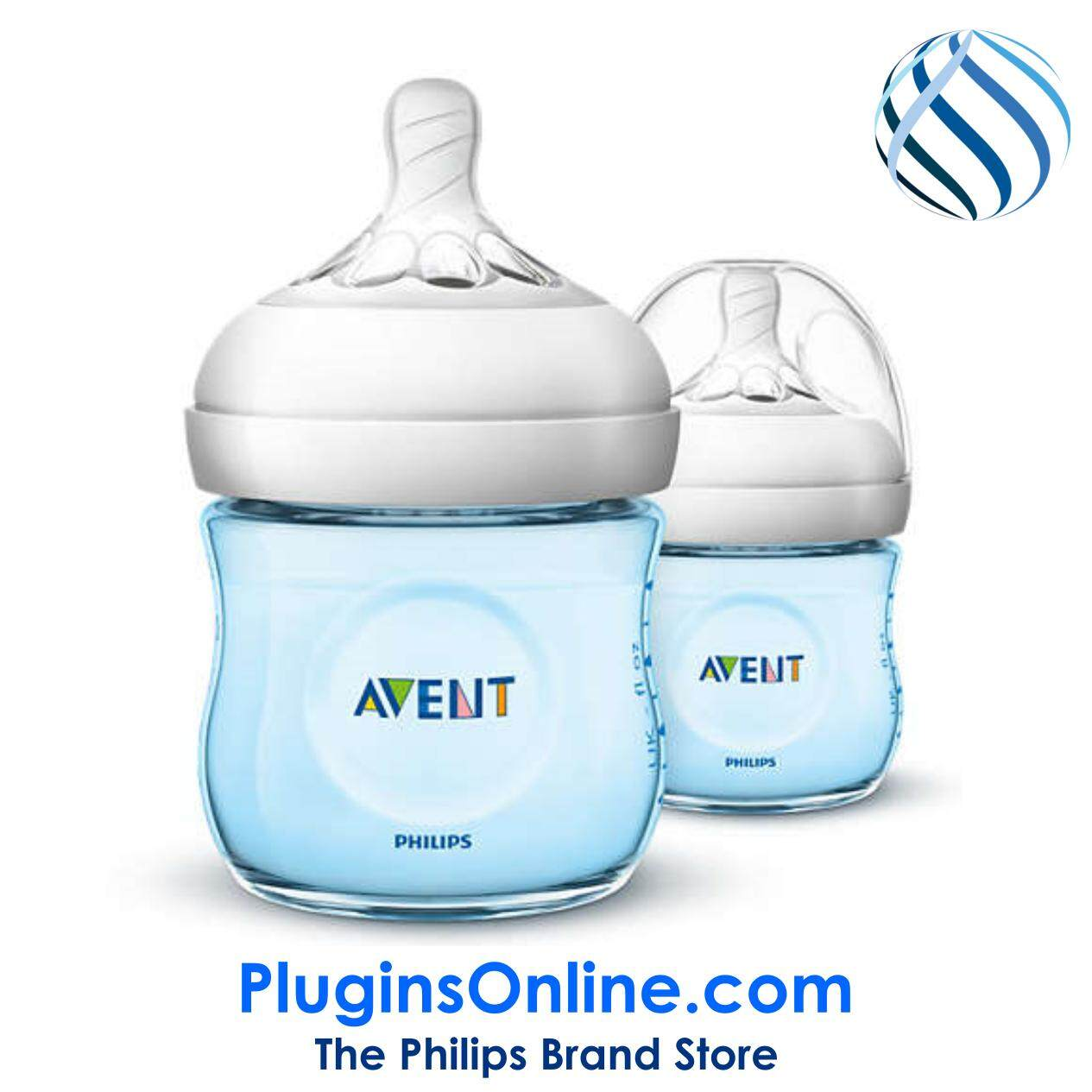 Philips Avent SCF692/23 Natural  Classic+ (Blue) 4oz/125ml (twin) - Natural  2.0 (Extra Soft Teat)