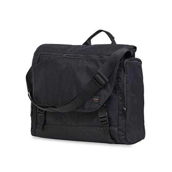 Knomo Luggage Mens Hugh Laptop Messenger Bag Black One Size