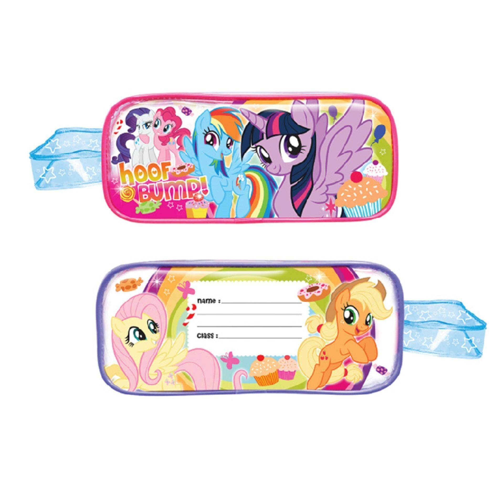 My Little Pony Primary School Kids Children School Bag Backpack, 650ML BPA  Free Tritian Bottle With Straw, Square Pencil Bag, Pencil, Eraser, Ruler &
