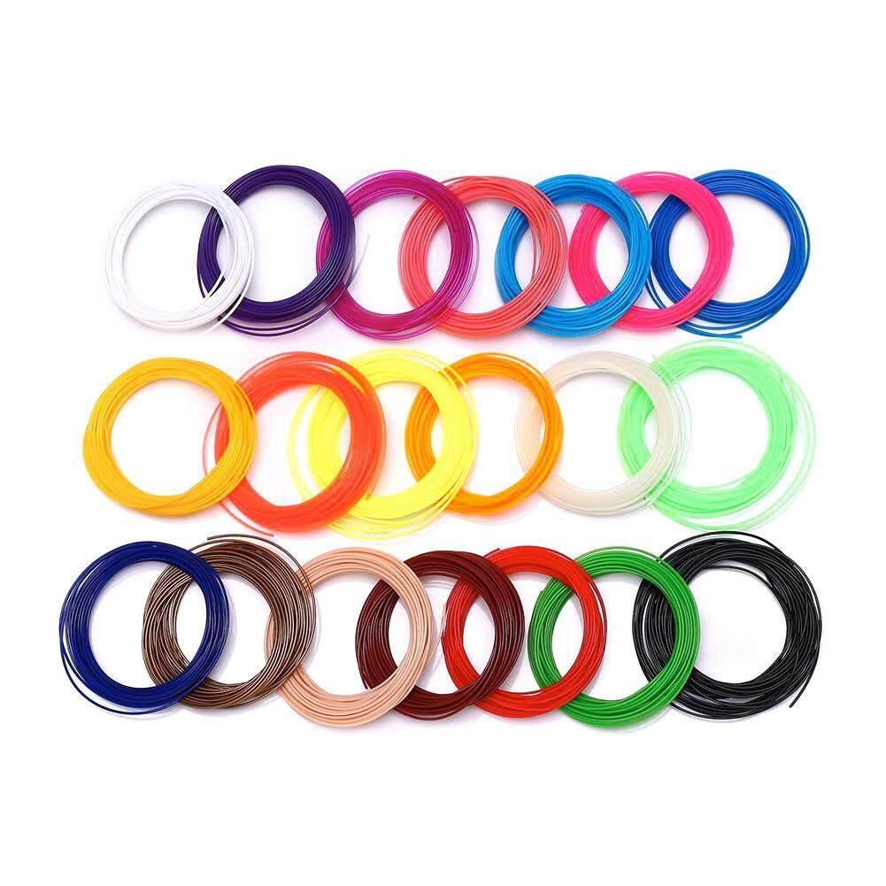 1.75 Mm PLA/ABS 3D Pena Mesin Cetak Filament Printer Filamen 20 Warna * 5 M/bag