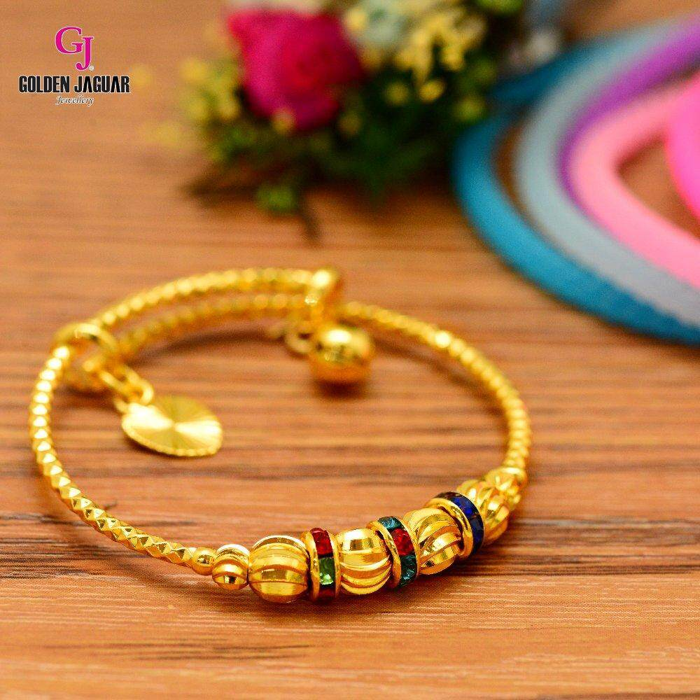 Emas Korea Golden Jaguar Kids Bangle (GJJ-99618-1)
