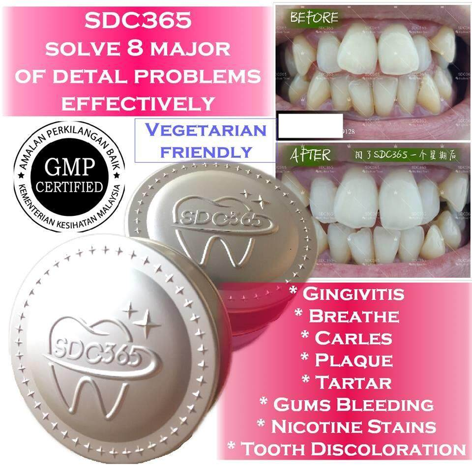Swiss Dental Care SDC365 洁牙粉 Tooth Powder 25g (Vegetarian) (瑞士科技,KKM认证,食品级别原料配方) Subsitute Toothpaste
