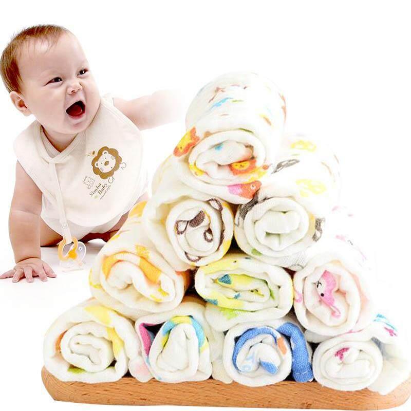 2018 Hot Sale Cotton Yarn Baby Bib Highly Absorbent 6-Layer Random Pattern Lunch Bibs Burp Clothes