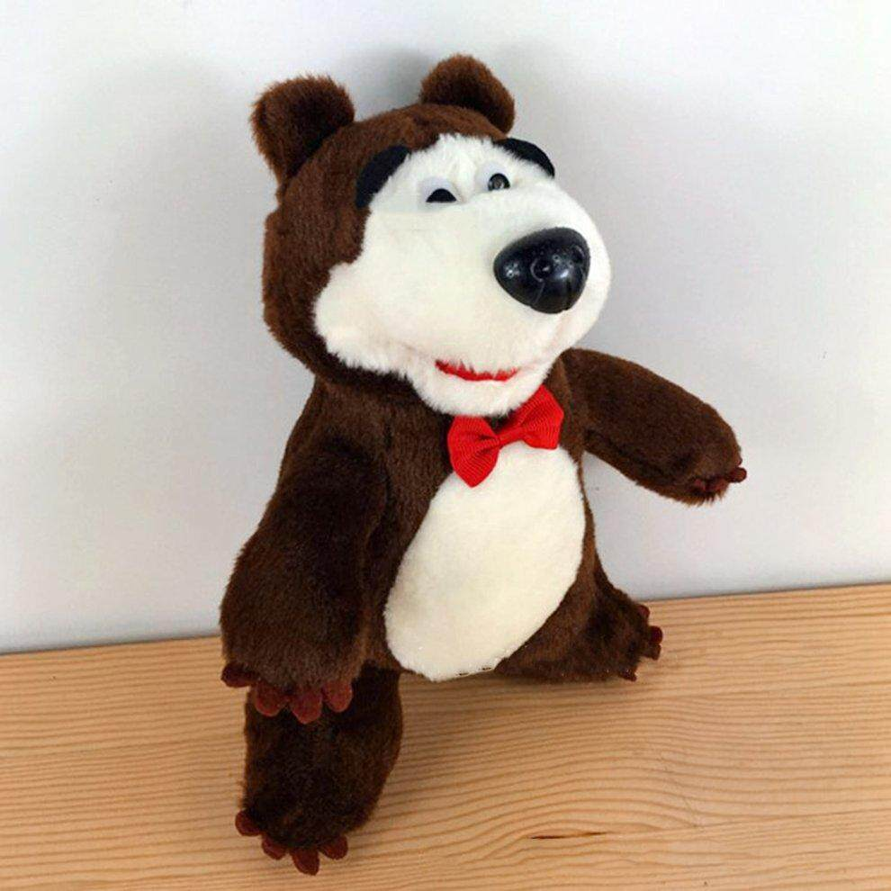 Funny Marsha Plush Bears Dolls Cute Electric PP Cotton Doll Toys Gift For Kids