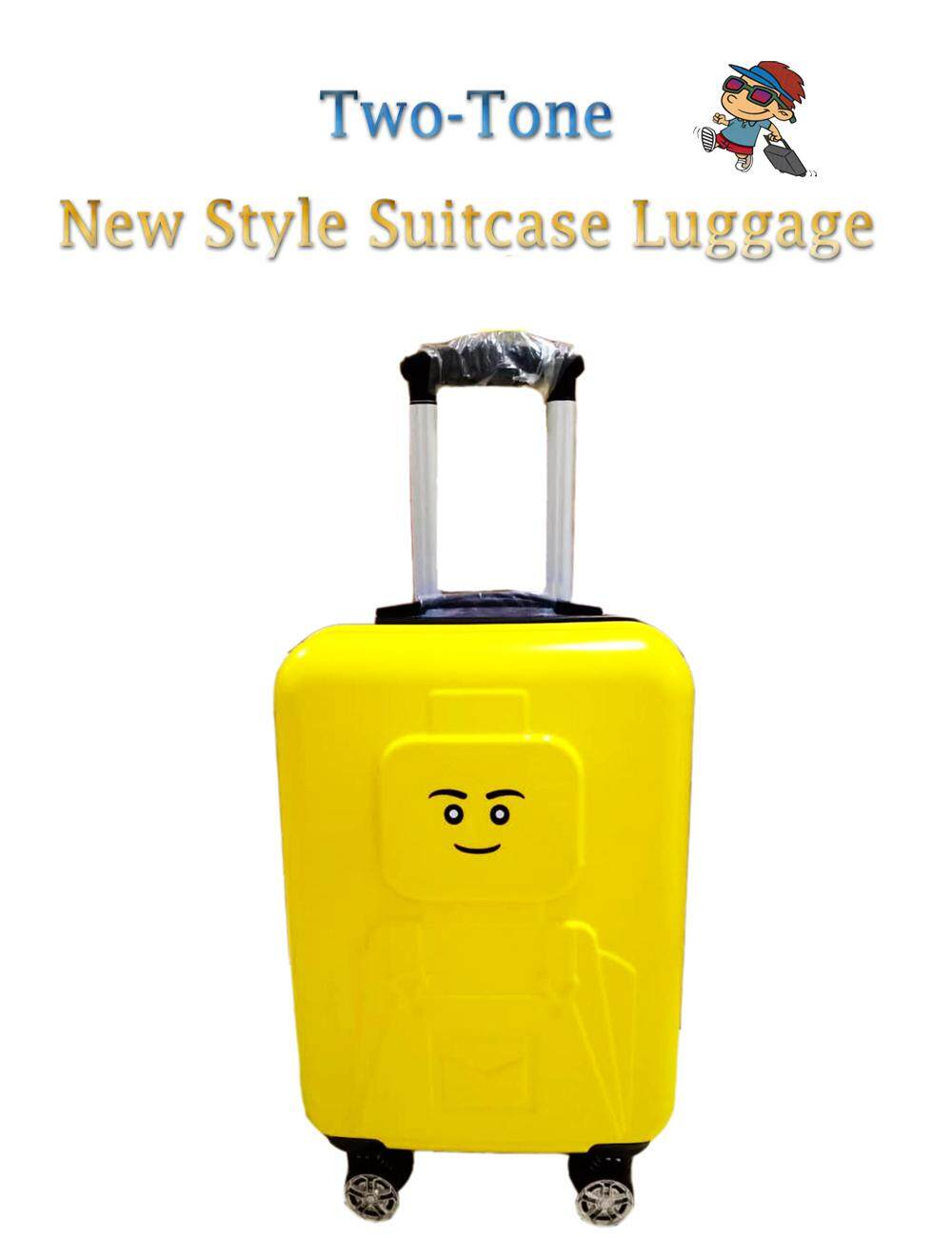 20 inch High Quality Hand Carry Two-Tone New Style Suitcase Luggage With Keylock