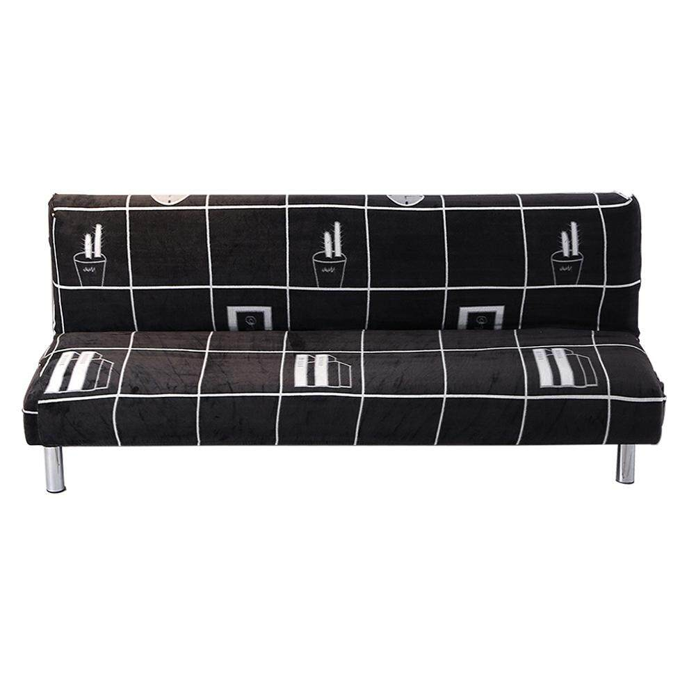Thickened Plush Sofa Cover Full Cover Without Armrest Folding Sofa Bed Slipcover