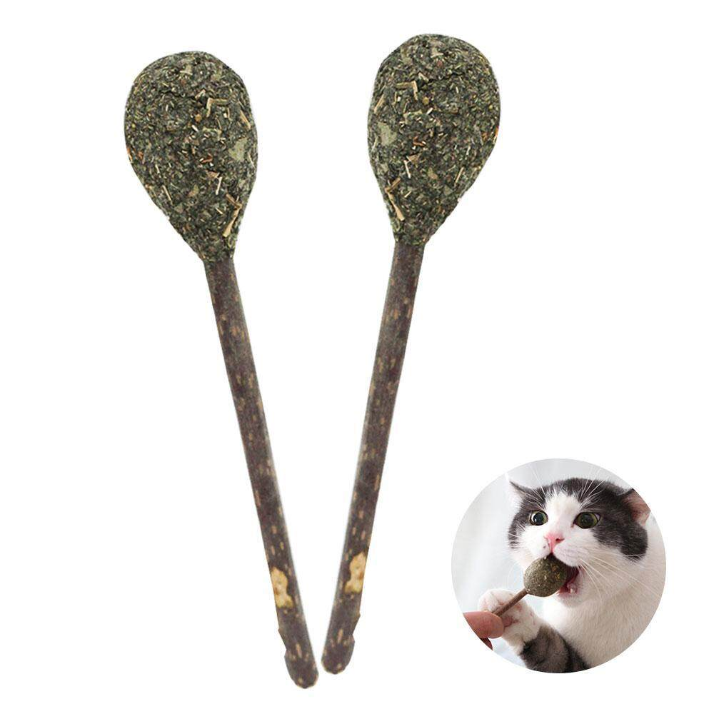 Withritty 2 Pcs Cat Teeth Cleaning Catnip Ball - Natural Matatabi Catnip Lollipop Toys - Snacks Chew Sticks Playing Molar Toy By Withritty.
