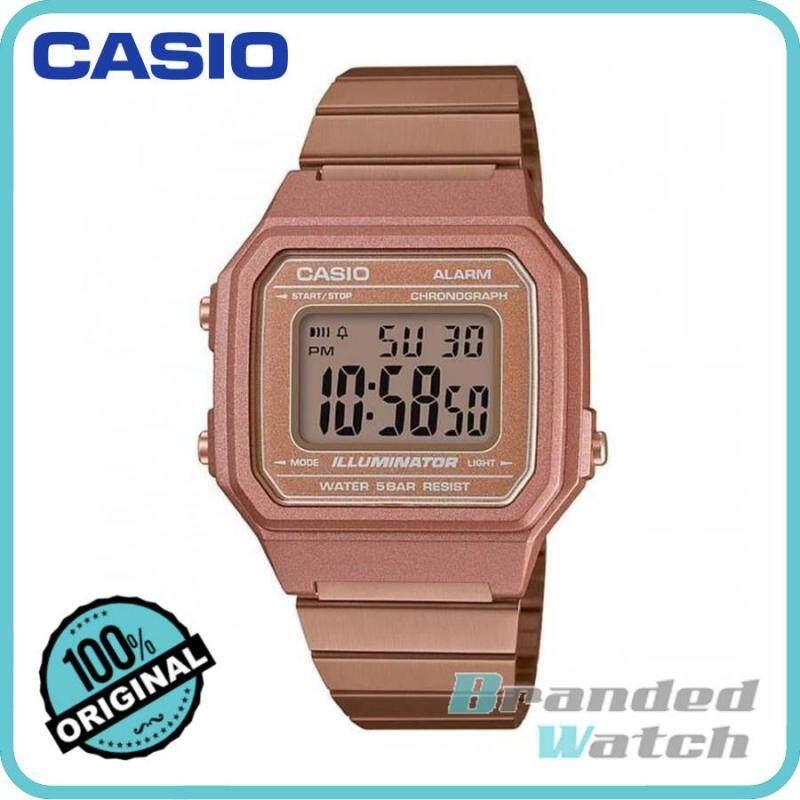 Casio B650WC-5A Unisex Digital Vintage Retro Rose Gold Steel Watch B650WC-5 B650WC Malaysia