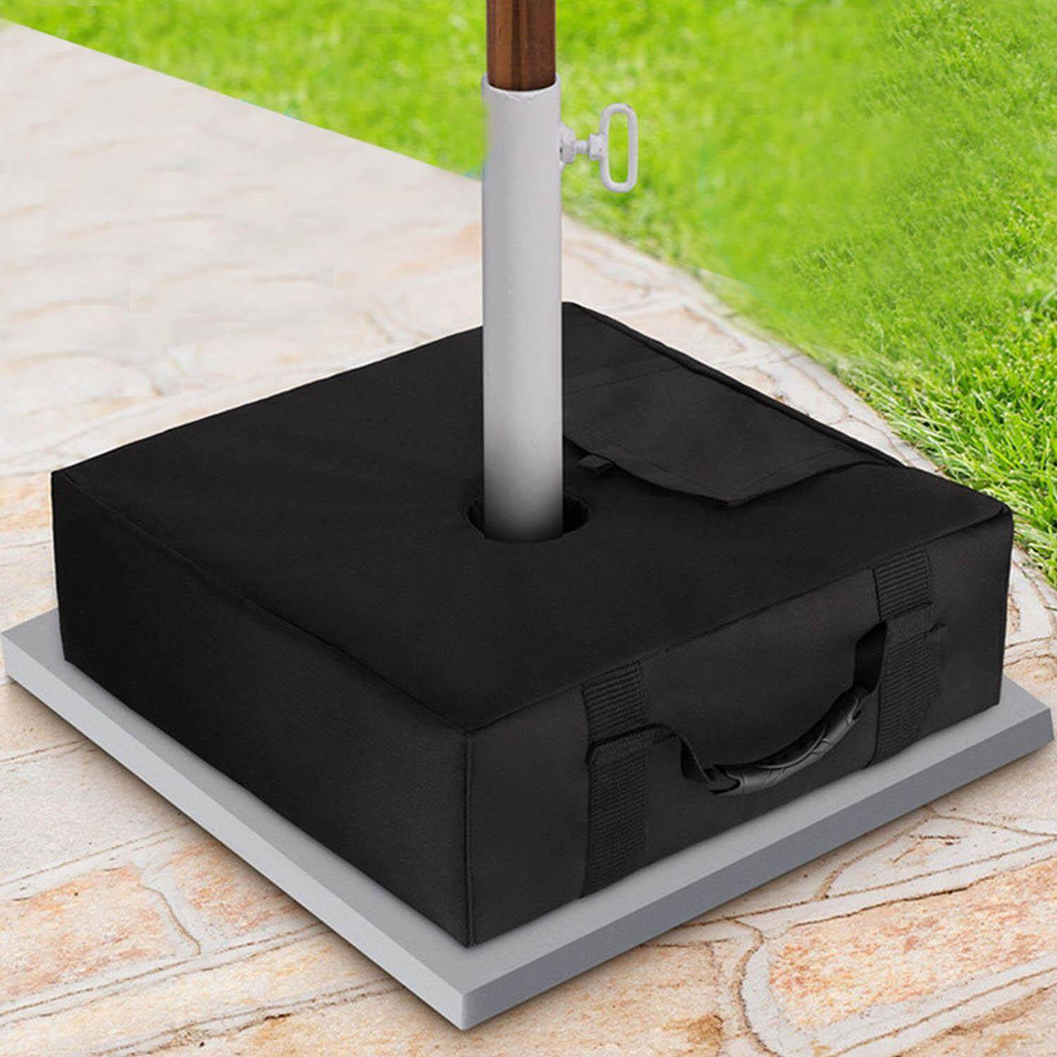 Square Detachable Patio Umbrella Base Weight Bag Stand for Offset Cantilever Patio Umbrella Flagpole