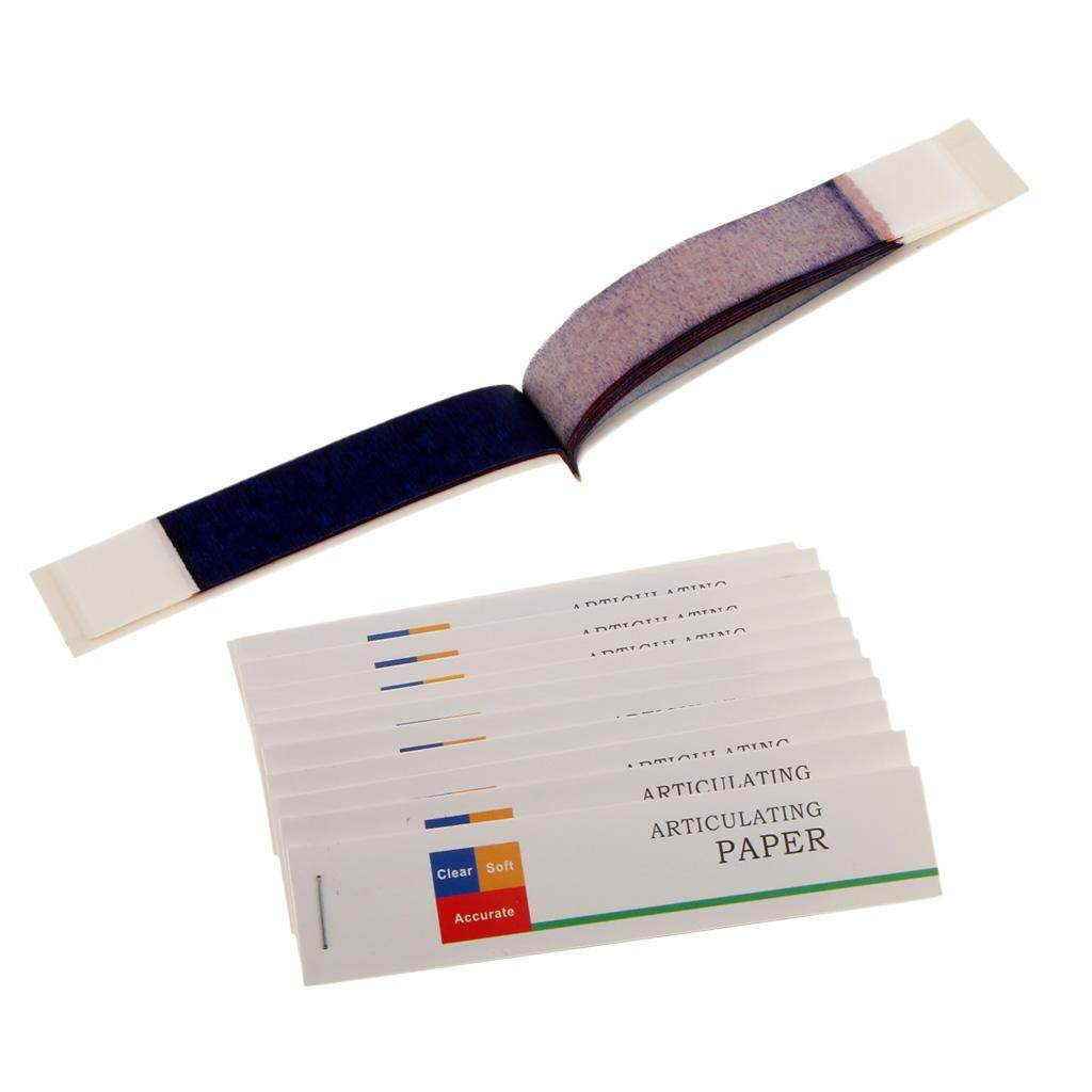 Miracle Shining Dental Articulating Paper Red Blue Thin Thick Strips Supply 12 Books / Box