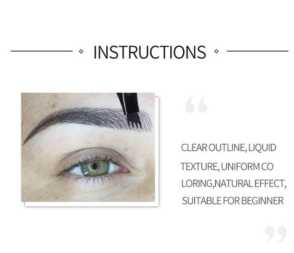 Features Yupt Handaiyan 4 Head Fork Liquid Eyebrow Tattoo Pencils