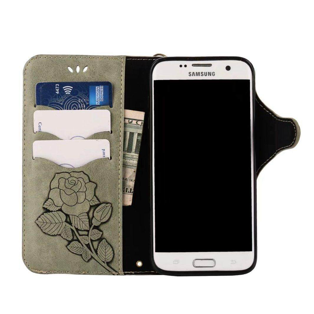... High Quality Pink Rose Leather Flip Wallet Stand Case Cover For Samsung Galaxy S7 Edge ...