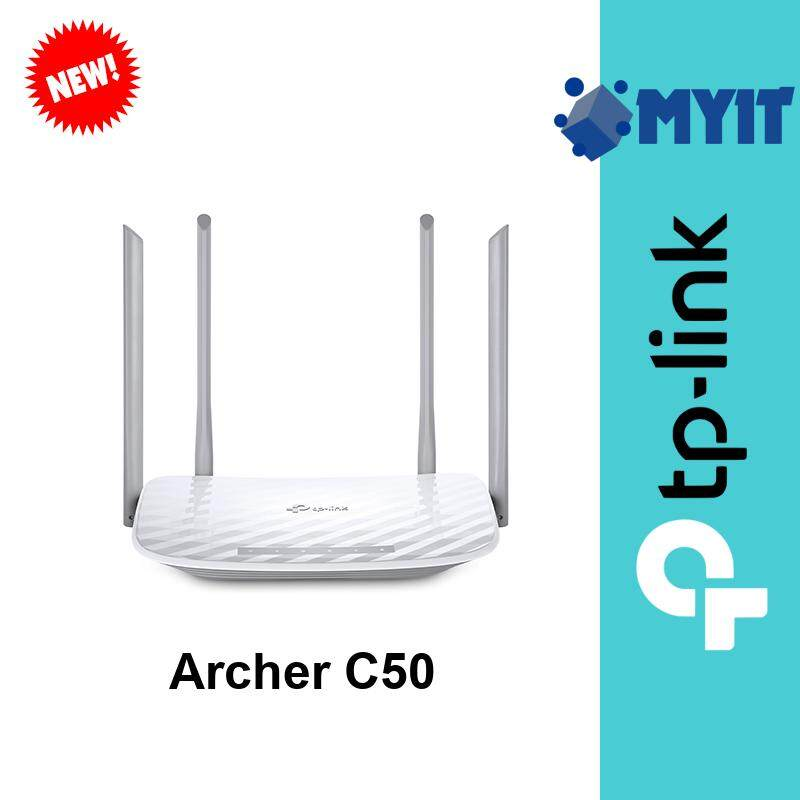 TP-Link Archer C50 AC1200 1200Mbps Wireless Dual Band WiFi Router for Unifi Maxis TIME IPv6 Ready (4 Port 1 USB)