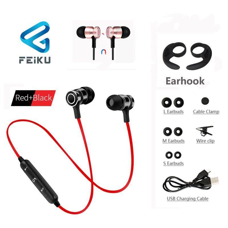 S6-6 Nirkabel Earphone Bluetooth HDD SAS HI FI Magnet Olahraga In-Ear Alat