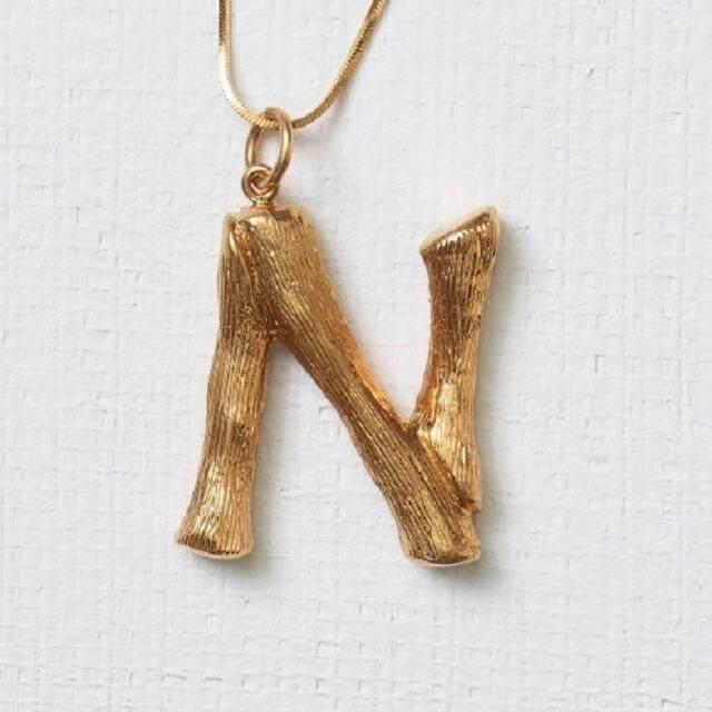 【Huruf N emas】18K rose gold hip hop Carina Lau sama surat ayat rantai sweater liontin kalung folder klavikula laki-laki dan beberapa perempuan perhiasan A-Z