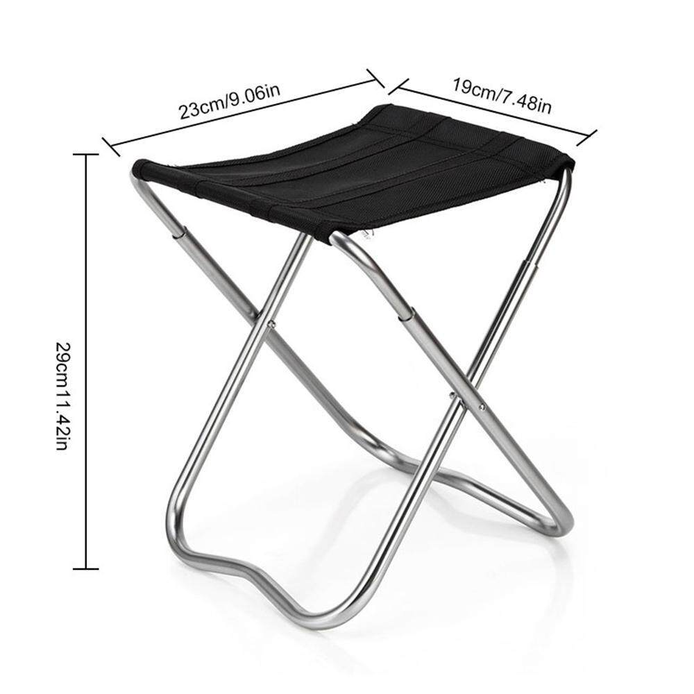 Niceeshop Portable Folding Camping Stools With Black Bag, Outdoor Slacker Chair For Fishing Camping Hiking Bbq Travel Hiking Etc By Nicee Shop.
