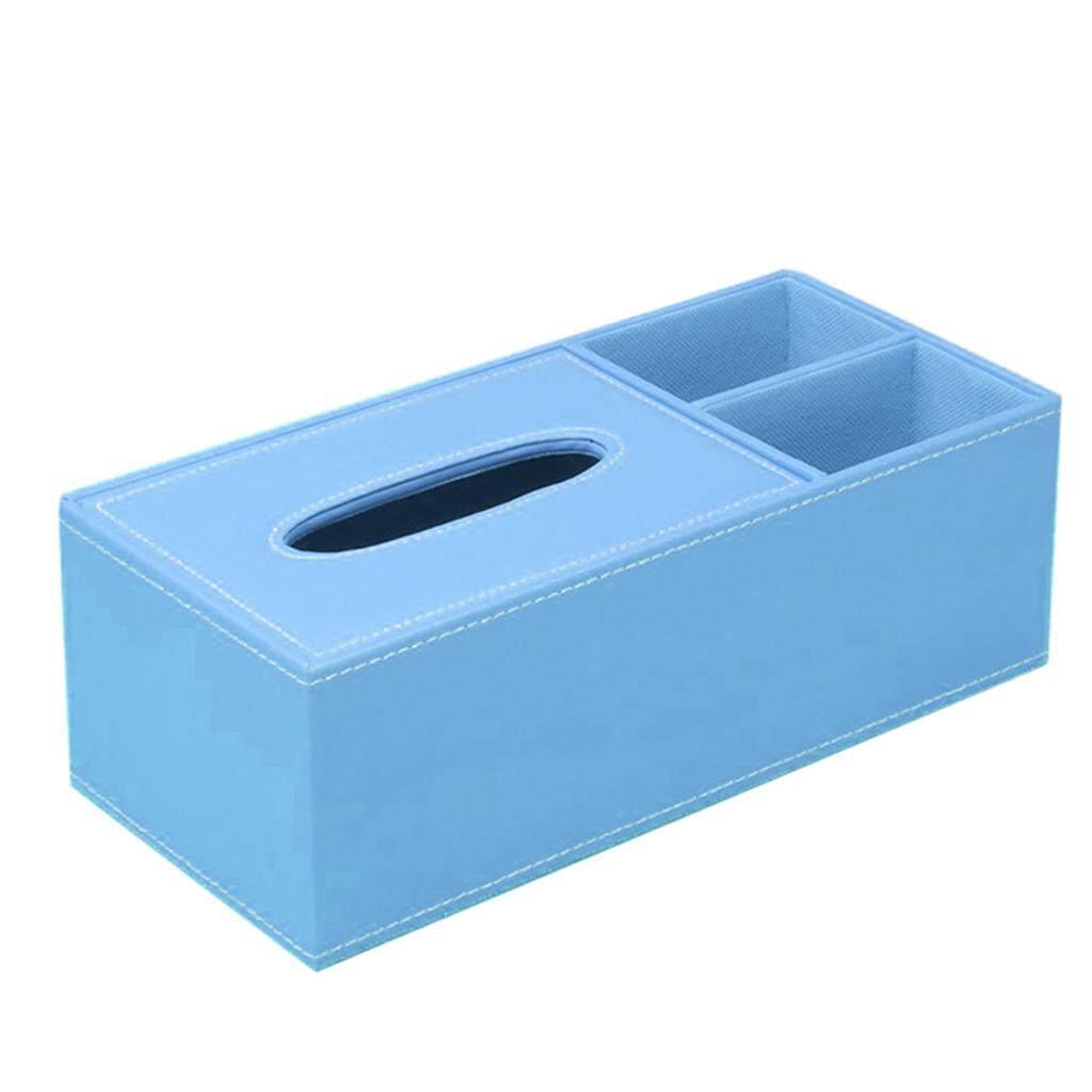 ขายช็อก BolehDeals PU Leather Home Tissue Box Napkin Desktop Container Cover Holder Blue ซื้อเลย - มีเพียง ฿296.36