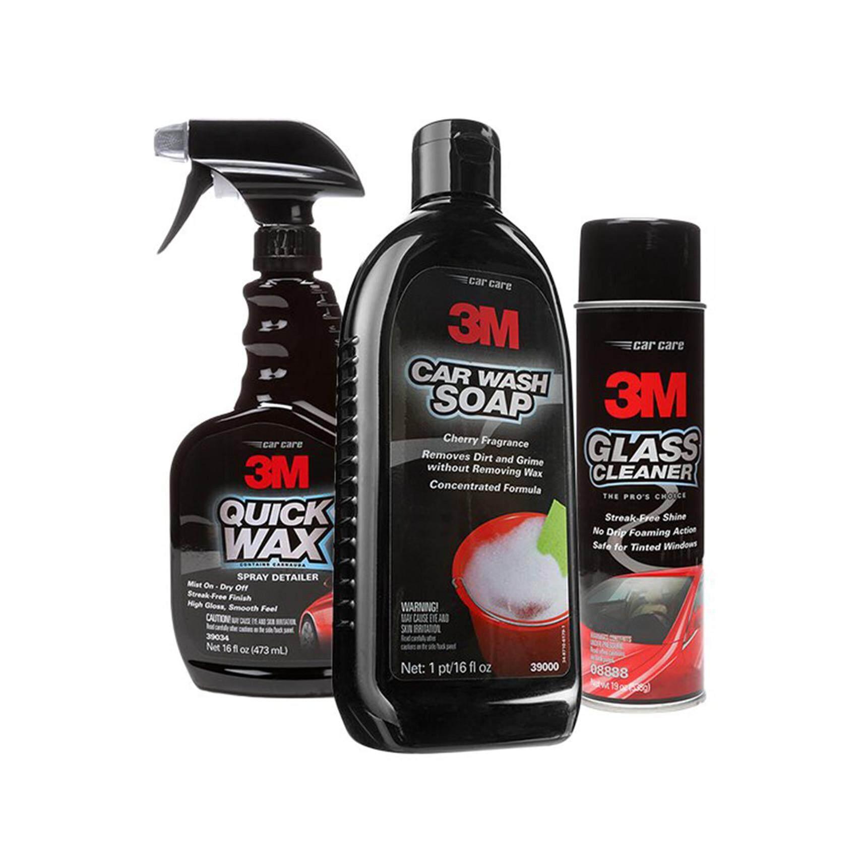 3m Paket Hemat Cuci Mobil Premium Car Wipe Smart Sponge Wash 32x32 Lap Exclusive Combo Soap Glass Cleaner Quick