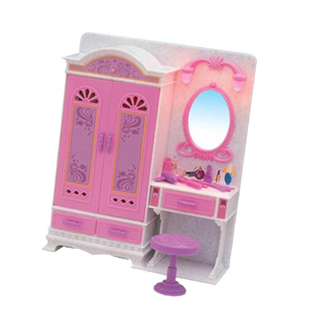 BolehDeals Plastic Wardrobe Dresser Play Set Furniture and Accessories for Barbie  Doll House Kids Pretend Play d6167fecd8