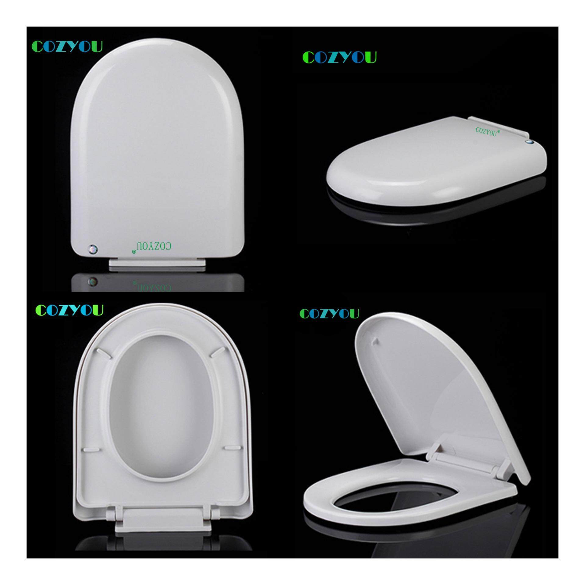 Elongated U Shape Toilet seat soft Close Quick Release Easy Clean above installation length 418-468mm,width 350-370mm GBP17292PU